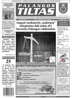 Palangos tilto laikraštis, Data: 2013-11-18, Numeris: 87 (1228)