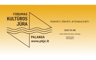 Spalio 8 dieną Palangoje įvyks kultūros forumas