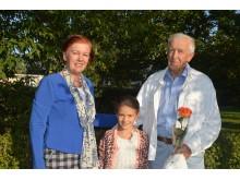 Gabrielę į šventę lydėjo mama Jolanta ir senelis Petras.