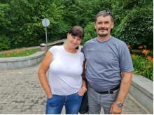 Lino Jegelevičiaus nuotraukoje: Stasė su vyru Arvydu atvyko į Palangą skiepytis net iš Šiaulių