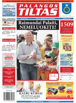 Palangos tilto laikraštis, Data: 2012-08-23, Numeris: 64 (1107)