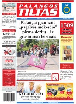 Palangos tilto laikraštis, Data: 2012-07-30, Numeris: 57 (1100)