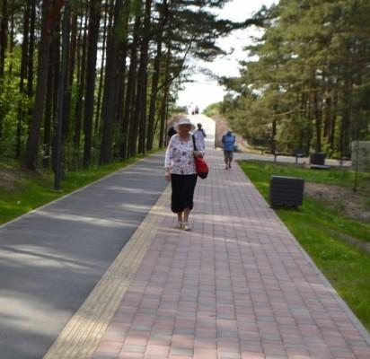 Pirmiausia Palangos svečius nudžiugino atnaujintas Lino takas, kuris padalintas į dvi dalis.