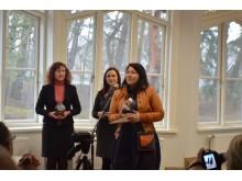 Eksponatų konkurse antrą vietą laimėjusi palangiškė Jolanta Liutikienė dėkojo visiems organizatoriams.