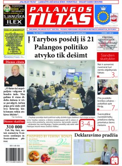 Palangos tilto laikraštis, Data: 2014-03-20, Numeris: 22(1260)