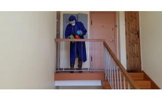 INFORMACIJA apie daugiabučių namų laiptinių dezinfekavimą