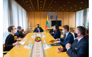 Vilniuje meras Šarūnas Vaitkus susitiko su Seimo Pirmininke Viktorija Čmilyte-Nielsen: dėl tiesioginių mero rinkimų 2023 metais Seimas turi spręsti pavasario sesijoje