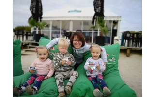 Raimonda Faidušienė su vaikais praėjusią vasarą
