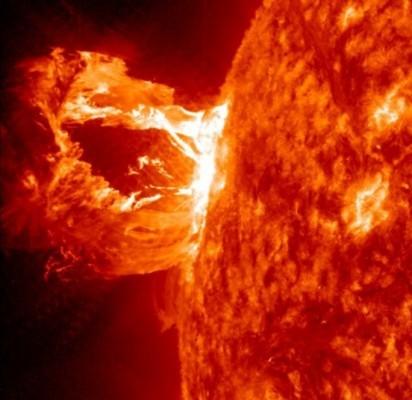 Saulės pliūpsnis. / NASA nuotr.