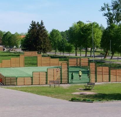 Šventosios mokyklos sporto aikštyne užvirs rekonstrukcijos darbai