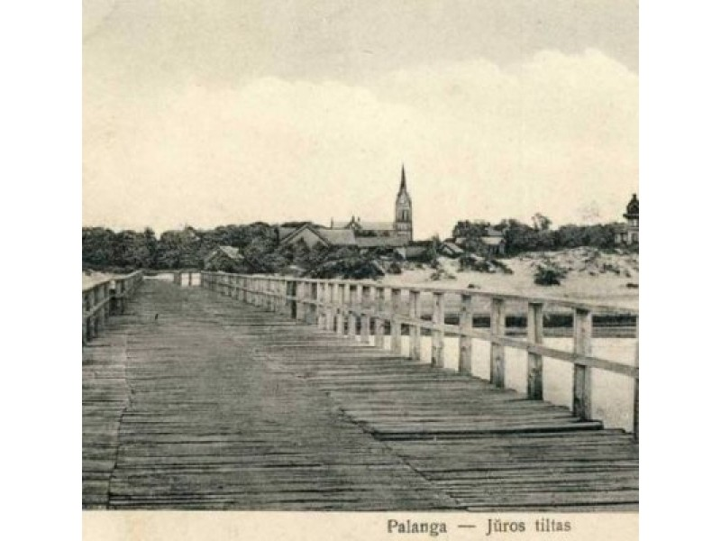 """Vaizdas nuo tilto, 1925 m. Autorius: I. Stropus. Iš """"Lietuva senose fotografijose""""."""