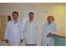 Puikiai savo darbą išmanantys gydytojai A. Šalavėjus, R. Šuipys ir N. Aukštikalnis.