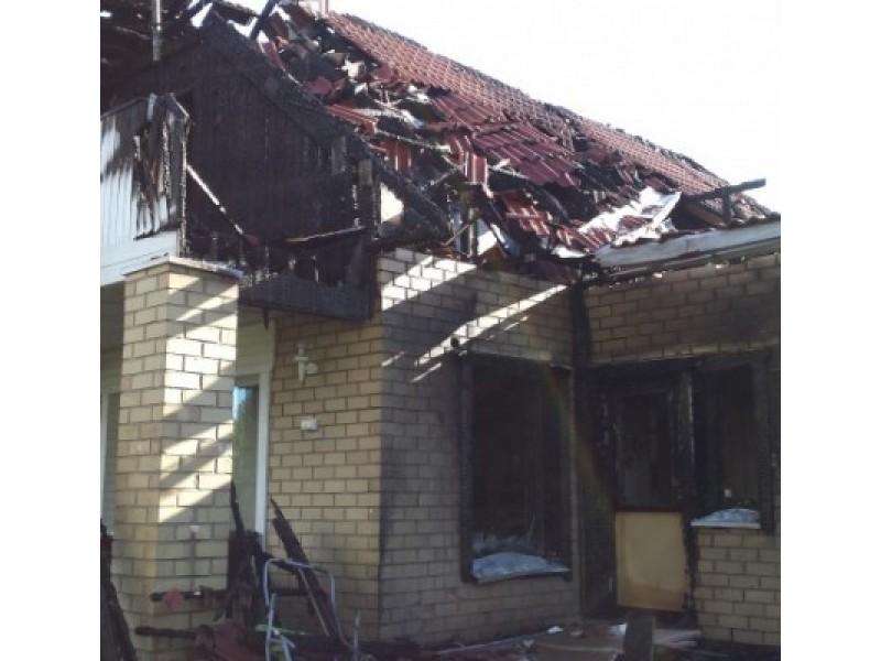 Palangoje degė gyvenamasis namas