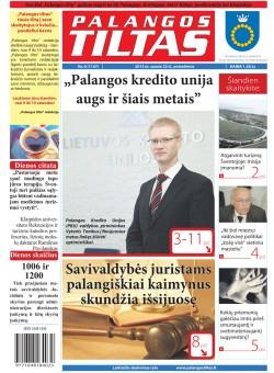 Palangos tilto laikraštis, Data: 2013-01-22, Numeris: 6 (1147)