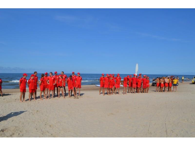 Palangos paplūdimyje varžėsi gelbėtojai