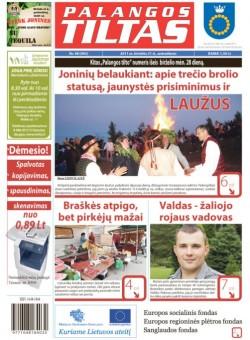 Palangos tilto laikraštis, Data: 2011-06-20, Numeris: 48 (992)