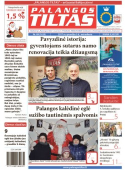 Palangos tilto laikraštis, Data: 2017-12-04, Numeris: 89(1620)
