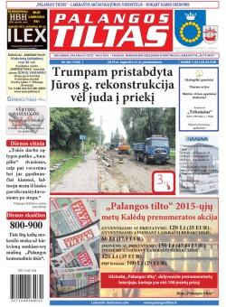 Palangos tilto laikraštis, Data: 2014-11-20, Numeris: 88(1326)