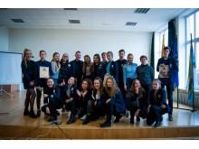 Viktorinos nugalėtojai ir organizatoriai