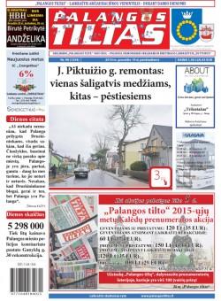 Palangos tilto laikraštis, Data: 2014-12-18, Numeris: 96(1334)