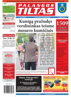 Palangos tilto laikraštis, Data: 2012-07-12, Numeris: 52 (1095)