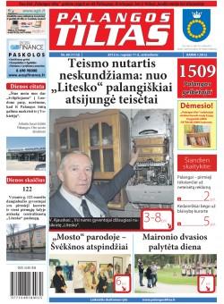 Palangos tilto laikraštis, Data: 2012-09-10, Numeris: 69 (1112)