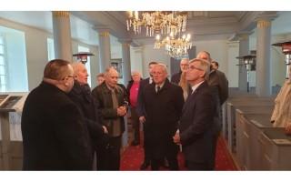 Būtingės liuteronų bažnyčioje lankėsi Seimo pirmininkas