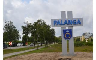 Įvažiuojančius į Palangą pasitinka naujas miesto ženklas
