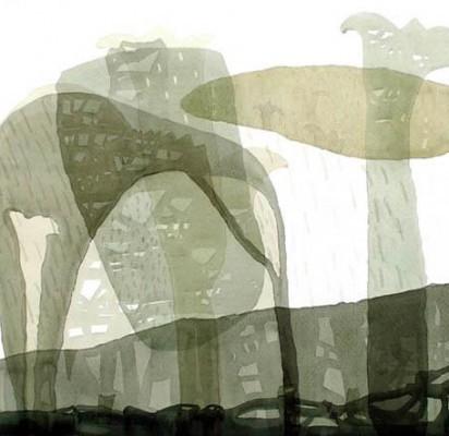 E.Sūdžiūtė. Po lietaus (Akvarelė).