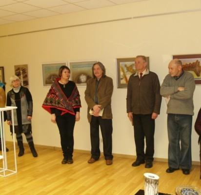 Parodą pristatė jos kuratoriai A.Bukauskienė ir P.Baronas.