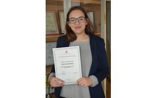 Justė Jankauskaitė – Lietuvos mokinių anglų kalbos konkurso III vietos laimėtoja