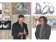 """Galerijoje """"Mostas"""" atidaryta paroda """"Balandinė""""."""