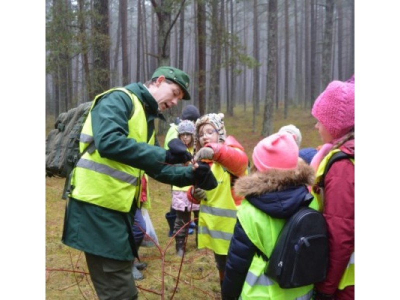 Medžius pažinti geriausiai galima miškuose, o ne iš paveikslėlių. Šie mažieji girinukai jau tą puikiai geba, jiems padeda Girinukų klubo mokytojas Raimundas Ereminas.
