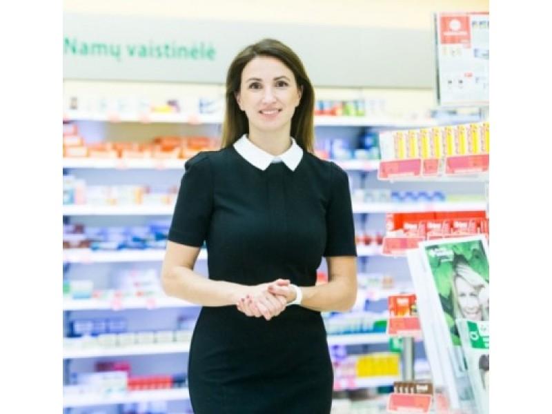 """Farmacijos tinklo """"Eurovaistinė"""" komunikacijos vadovė Laima Bielskė."""
