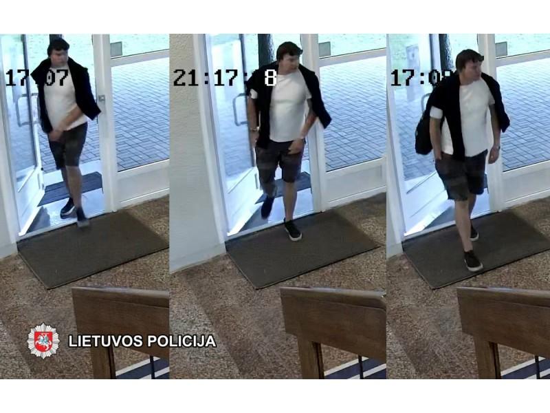 Palangos policija prašo visuomenės pagalbos – padėti atpažinti nuotraukoje užfiksuotą asmenį