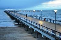 Šeštadienį valandai užtemo Palangos jūros tiltas