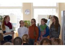 V.Jurgučio pagrindinės mokyklos moksleiviai dalijosi įgyta patirtimi. / A.Žolio nuotr.