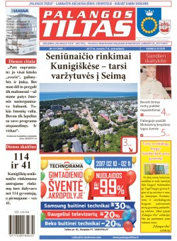 Palangos tilto laikraštis, Data: 2017-02-06, Numeris: 9(1540)