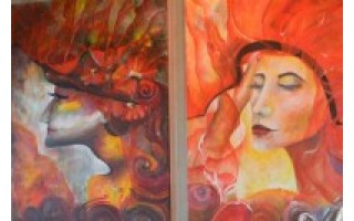 """""""Gamantos"""" galerijoje – spalvinga D. Repšienės tapyba ir subtilios kalėdinės atvirutės"""