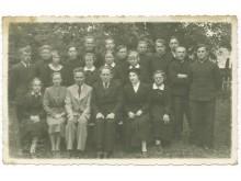Palanga. Moksleivių klasė su mokytojais. Fot. I. Stropus, 1938 m.