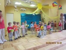"""""""Pelėdžiukų"""" grupė groja """"Polką"""". / """"Gintarėlio"""" archyvo nuotr."""