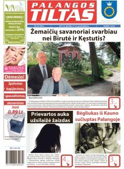 Palangos tilto laikraštis, Data: 2011-06-16, Numeris: 47 (991)