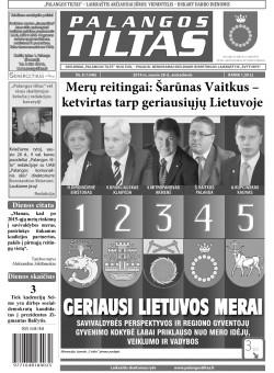 Palangos tilto laikraštis, Data: 2014-01-27, Numeris: 8(1246)