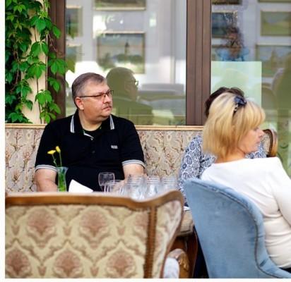 """Renginyje dalyvavo ir """"Molinio ąsočio"""" savininkas Klaidas Pakutinskas."""