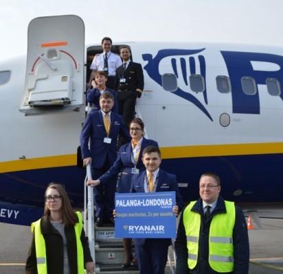 """Paskui """"Wizz Air"""" Palangoje antradienį leidosi ir """"Rynair"""" lėktuvas"""