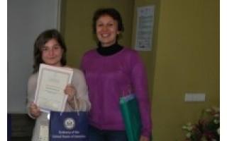 Gimnazistės sėkmė respublikiniame anglų kalbos konkurse