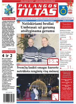 Palangos tilto laikraštis, Data: 2018-12-07, Numeris: 48 (1673)