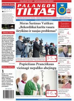 Palangos tilto laikraštis, Data: 2018-09-27, Numeris: 39(1664)