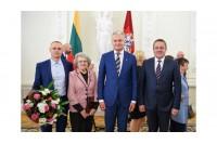 Šventojiškė Bronislava Birutė Jereminienė apdovanota Žūvančiųjų gelbėjimo kryžiumi