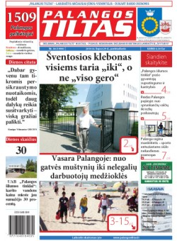 Palangos tilto laikraštis, Data: 2016-07-28, Numeris: 56 (1490)